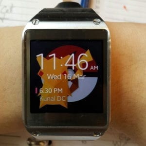 Neat idea by @langsalang - turning our tee design into his watch background!