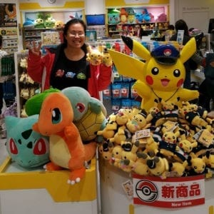 Pokemon shops are THE BEST! Here's @foodiemish wearing our Pokemon tee design in Tokyo whilst exploring Japan!