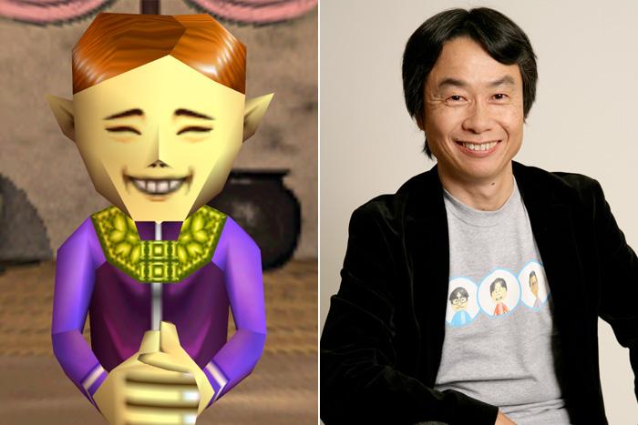 Miyamoto and the Zelda Majora's Mask Happy Mask Salesman