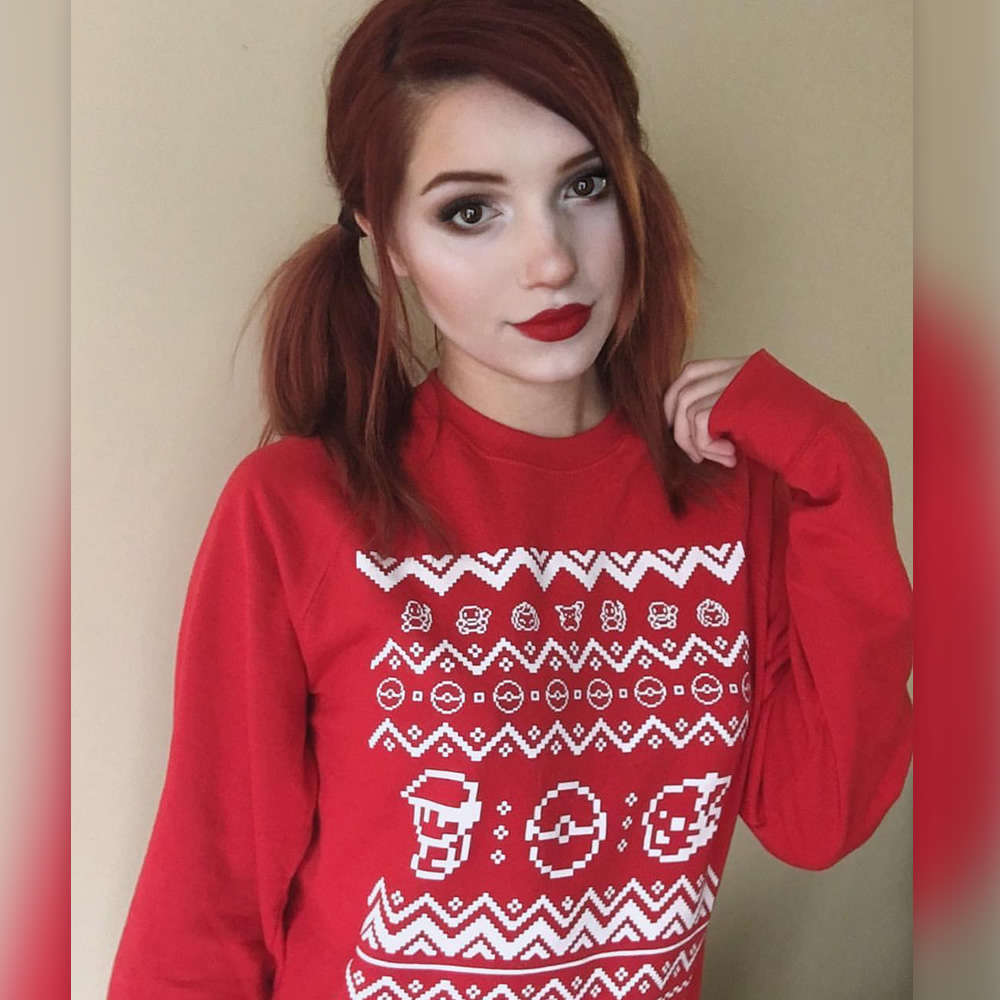 Wrap up warm this winter with our exclusive sweaters! Here's the brilliant @madi.kat wearing our festive sweat in red!
