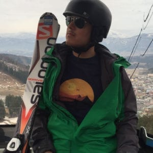 Here's @gray.ric in our Star Trek shirt as he hit the slopes in Japan!