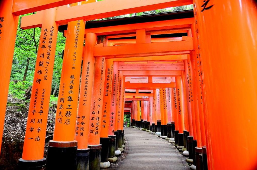 A japanese fox shrine