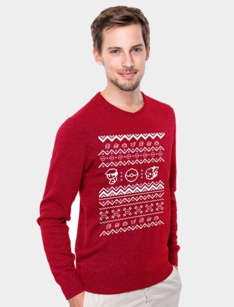 pokemon-christmas-sweater-red-retro-sprite-pixel-model