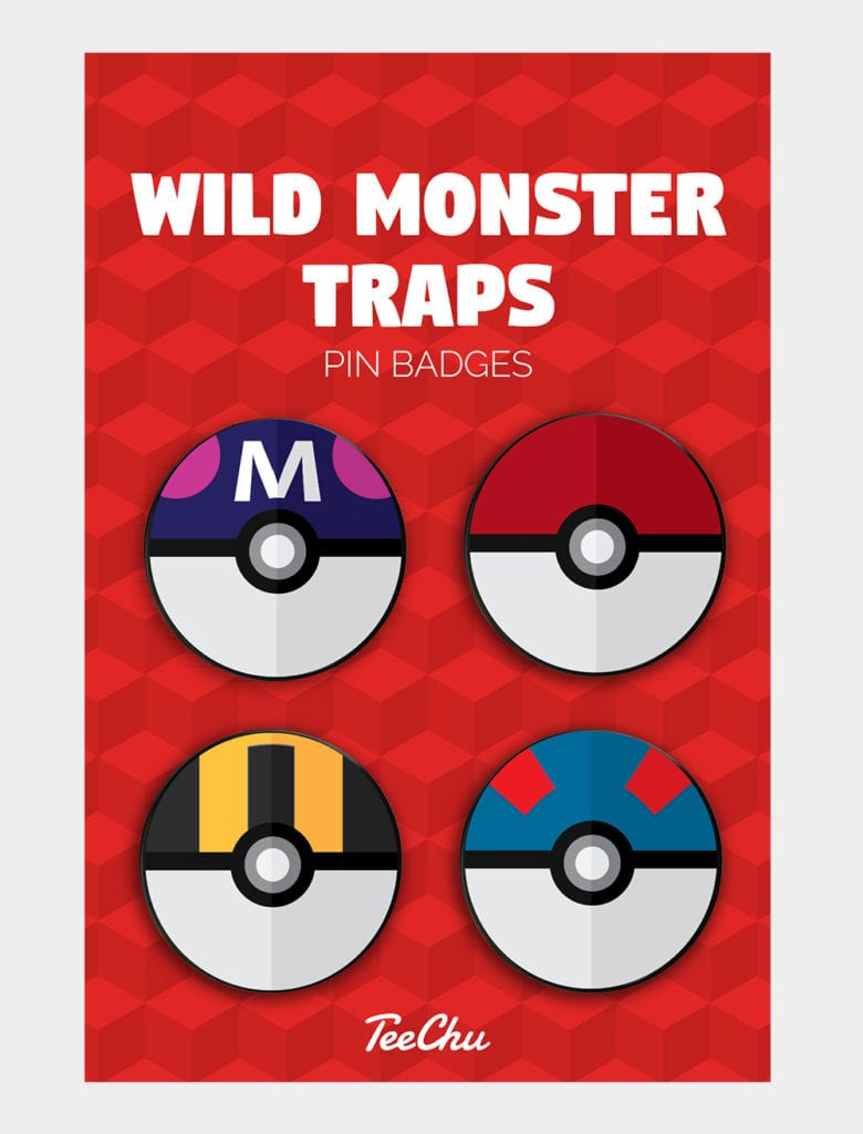 Gaming badges inspired by Pokemon