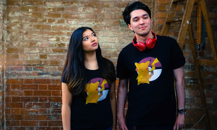 Capture Pikachu with our Mosaic Mouse shirt!