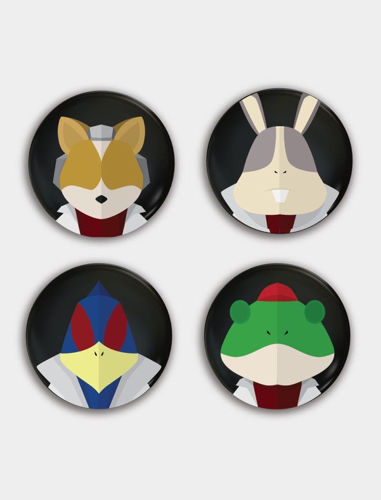 star-fox-lylat-badges-set