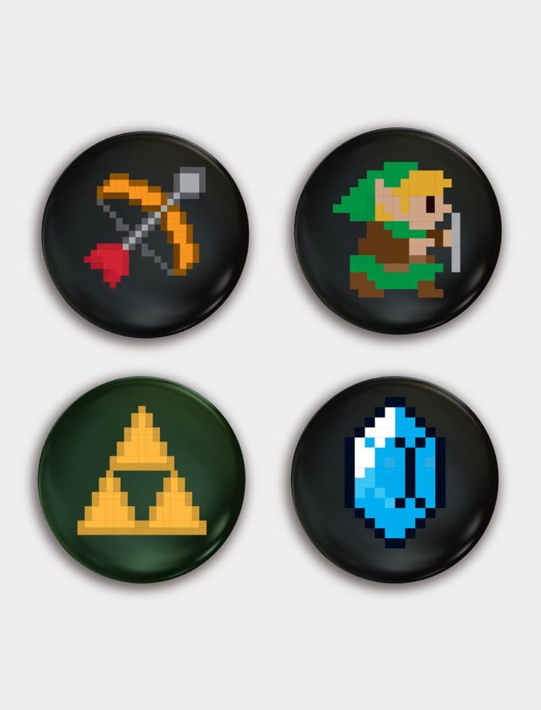 Gaming badges inspired by Zelda