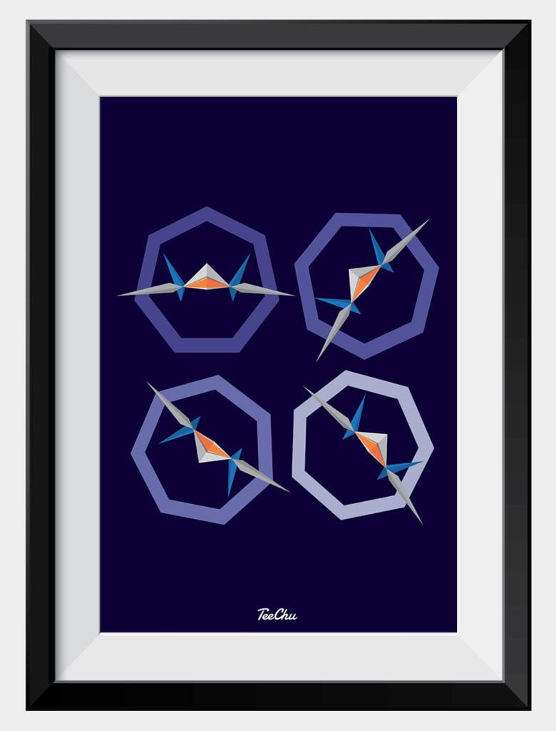 Barrel Roll into this classic Star Fox print