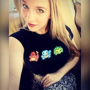@amberskiescosplay in our Pokemon inspired tee! Check out Amber's brilliant creations - including an amazing Sonic/Shadow!