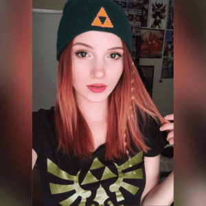 @madi.kat returns as the Hyrule Hero in our Hylian Beanie Zelda hat!