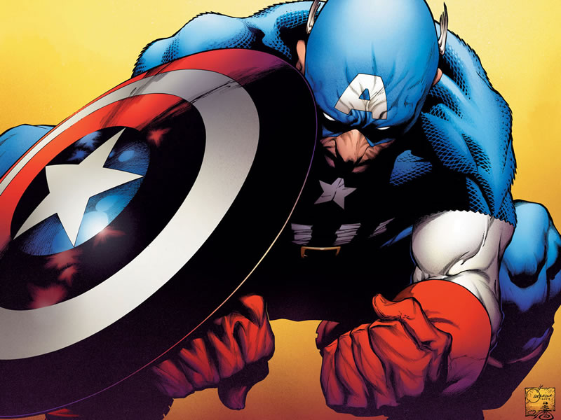The leader of the pack, it's Captain America!