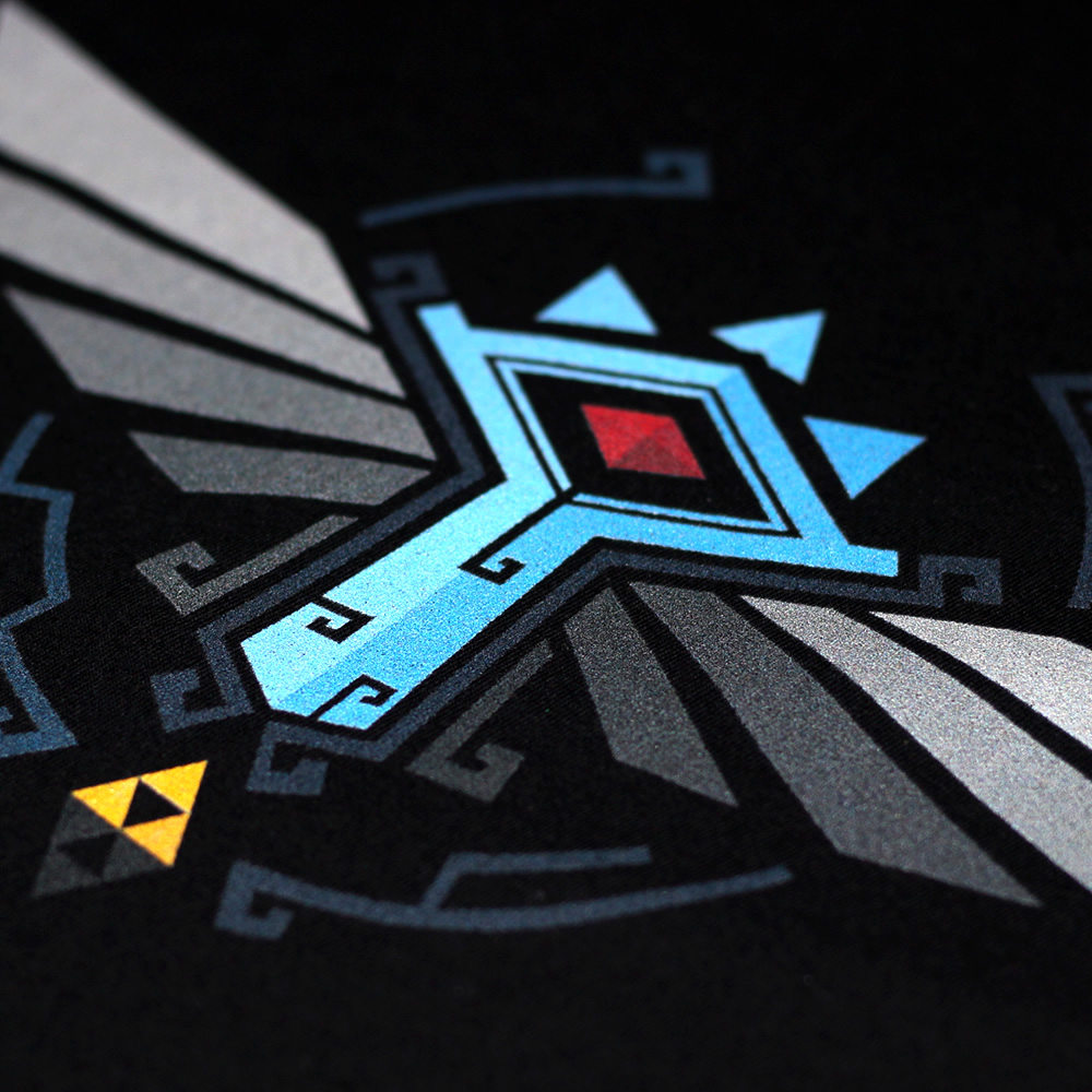 A close up of our Breath of the Wild shirt