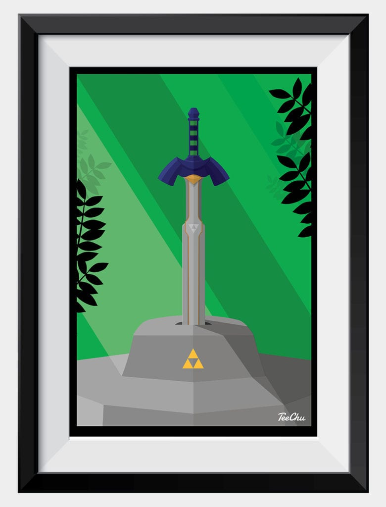 Can you lift the Master Sword? Zelda inspired print