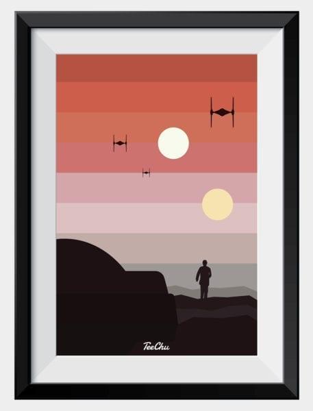 binary-sunset-framed