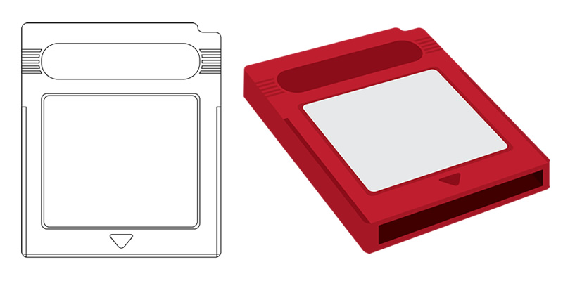 Original Flat design vs 3D cartridge
