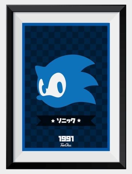 sonic-print-framed