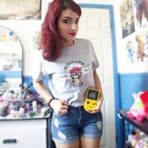 Sarah @the_jazzykitten journeys back to Kanto in our Kanto Journey tee!