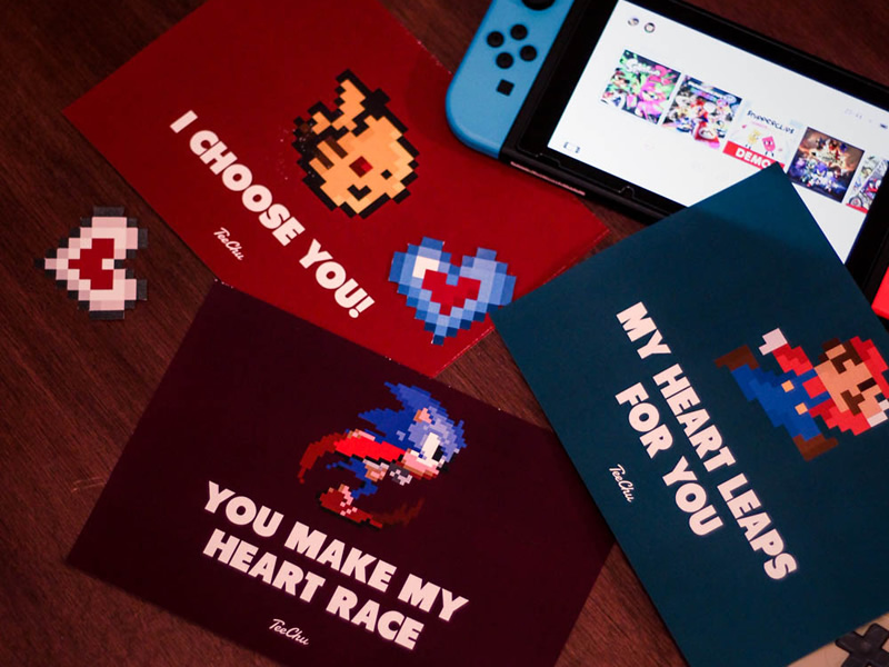 Download these free Valentine's Day Cards for Retro Love Treats!