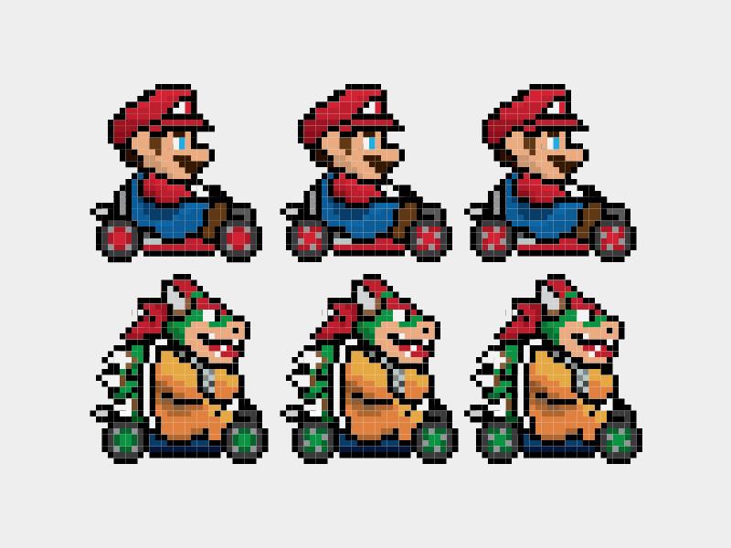 Behind The Tee Pixel Racer Hit The Mario Kart Circuits In