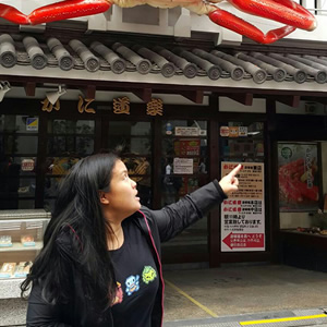 Ready to battle that giantcrab it's @foodiemish in Japan!