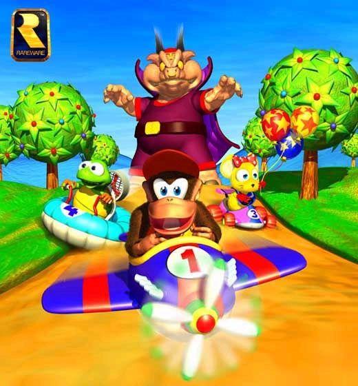 Furry, racing fun! Got to love Diddy Kong Racing!