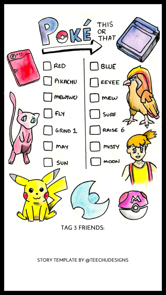 Pokémon - This or That Instagram story template!