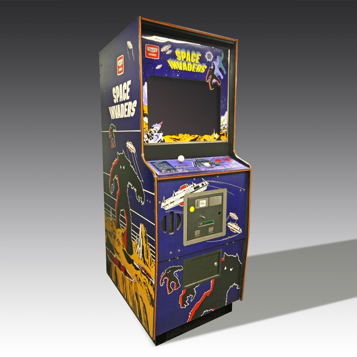 A look at an early Space Invaders arcade cabinet!