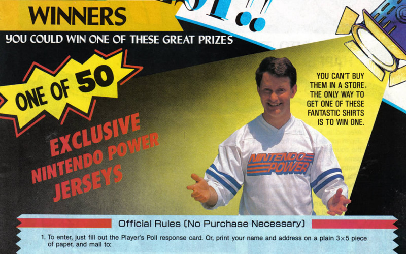 Want to win a Nintendo Power jersey?