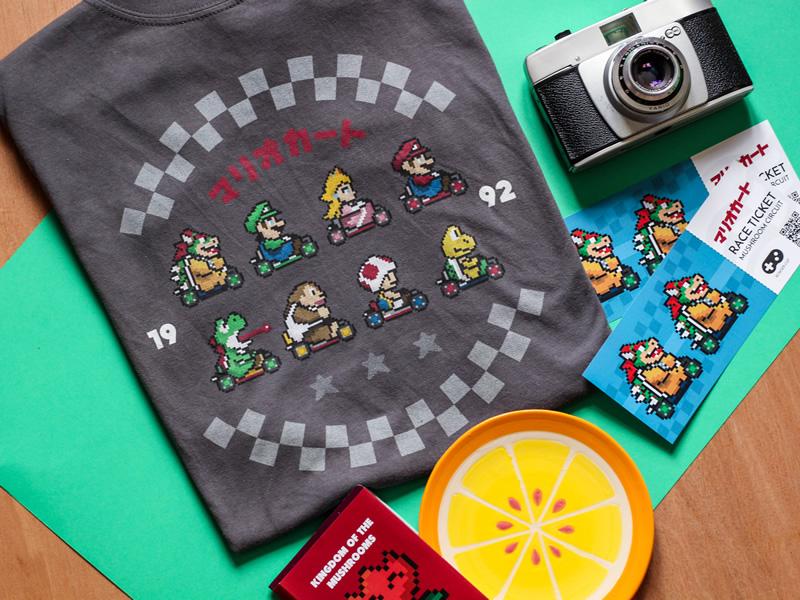 Tear up the Tarmac this summer - Mario Kart shirt
