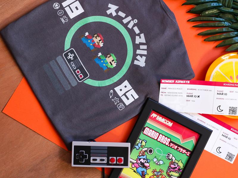 Two Plumbers, classic Nintendo Summer T-Shirts