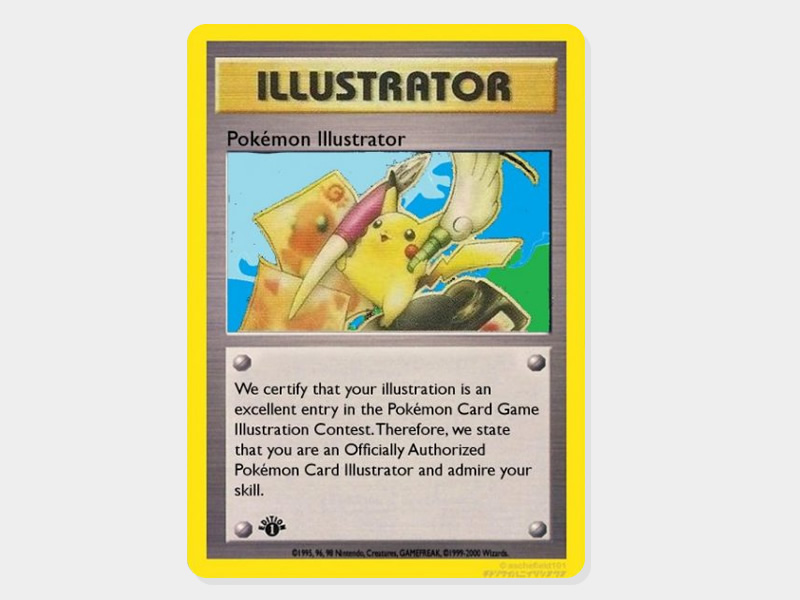Pikachu can draw? Introducing the Pikachu Illustrator TCG card