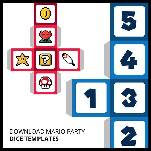 Download Mario Party Dice Templates