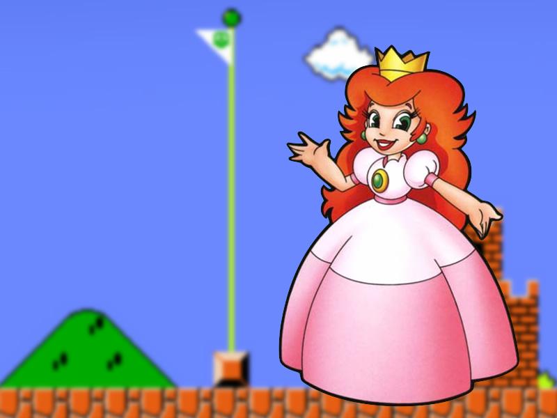 Princess Peach's original Toadstool design with red hair!