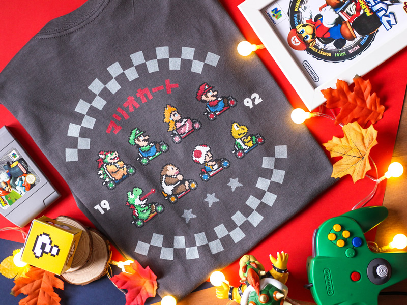 Need unique geeky christmas gifts? This Mario Kart tee could be the one!