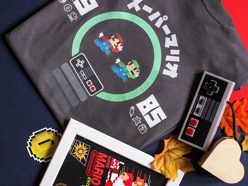 Mario and Nintendo Inspired Shirts and Tees