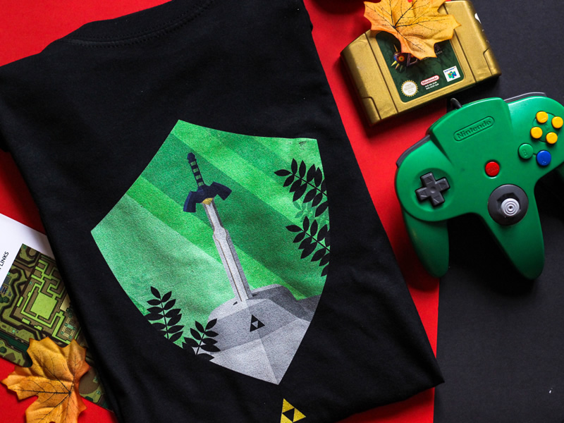 Taking the Test of Courage - Zelda inspired shirt