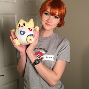 Love this adorable shot of @ladyashexii and her little Togepi!