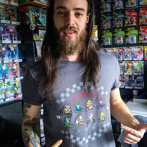 Awesome snap of @nintenbros64 in his classic Mario Kart threads!