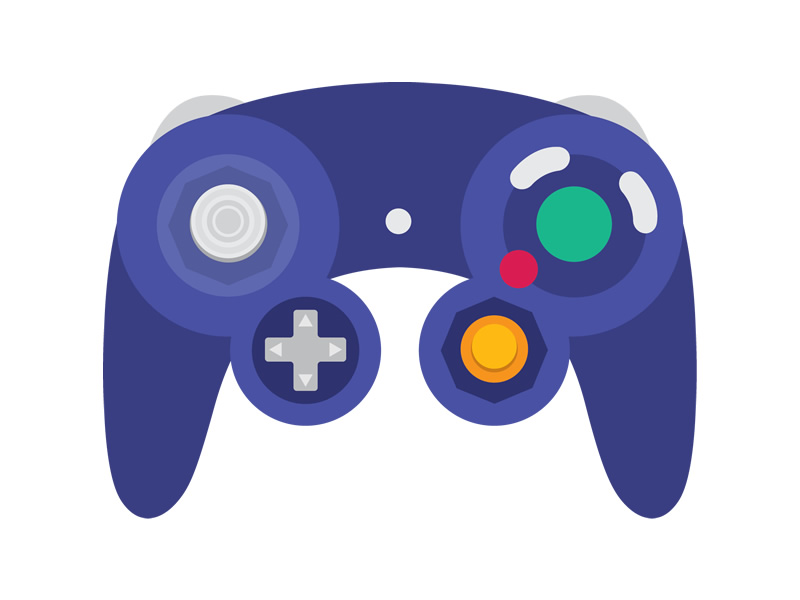A colourful concoction to Smash with - GameCube controller