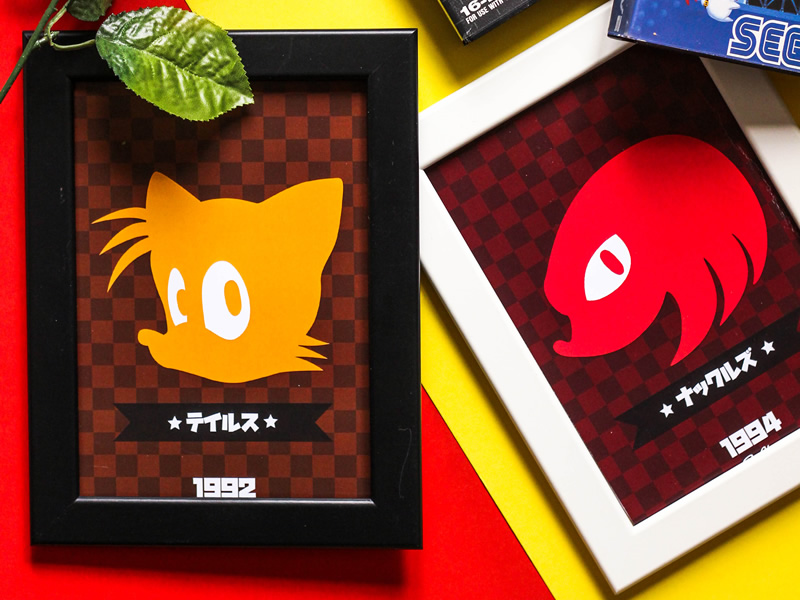 Spindash to your Sonic the Hedgehog prints