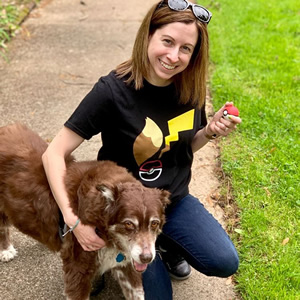 Puppy, power! Trainer @pausemygame and her canine buddy are set to explore the world for Pokemon!