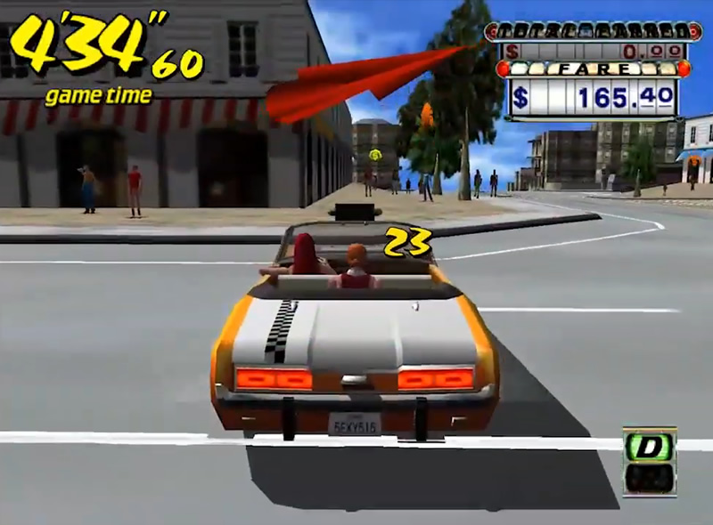 Best Dreamcast Games:  Crazy Taxi