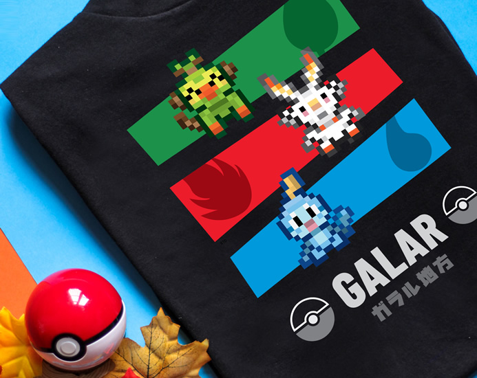 NEW Galar Gang Pokemon Shirt