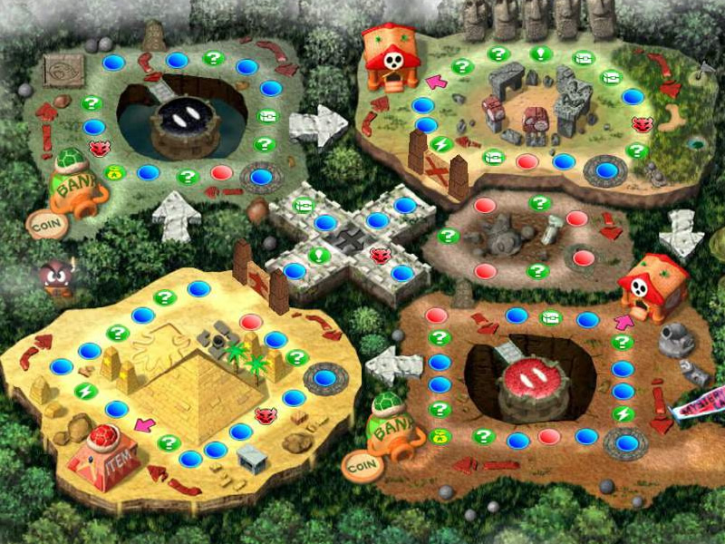 The Mario Party 2 board themes