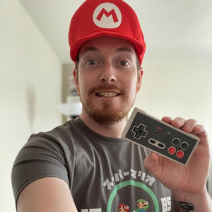 Grab that old school controller and leap into one retro adventure with @itsamemarcus!