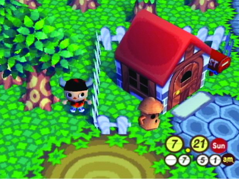 Our look at Animal Crossing with a screenshot of AC on GameCube
