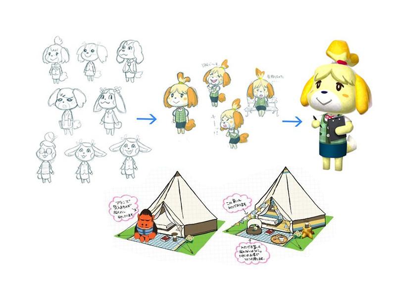 Unique concept art for Animal Crossing