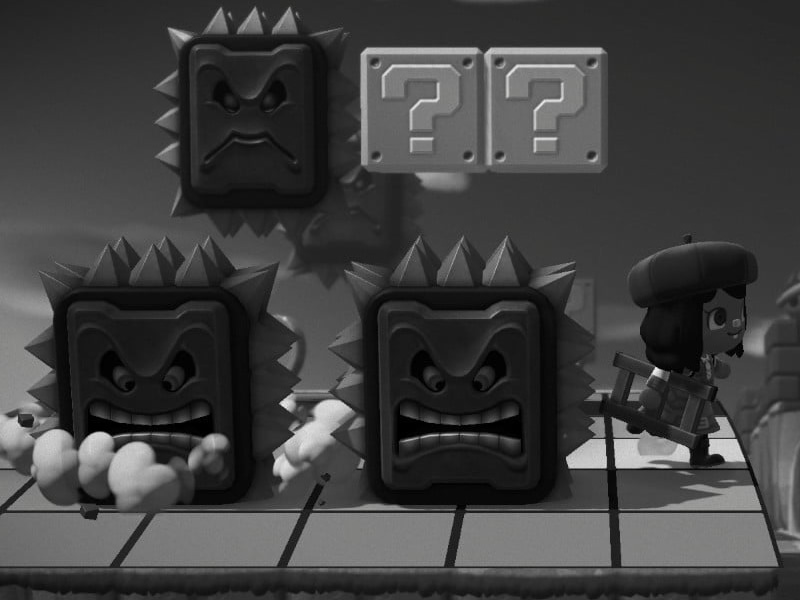 Avoid the Thwomp in our Animal Crossing mini games!