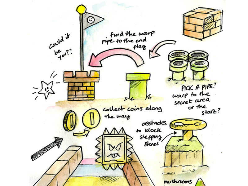 Concept Sketches for Animal Crossing mini games