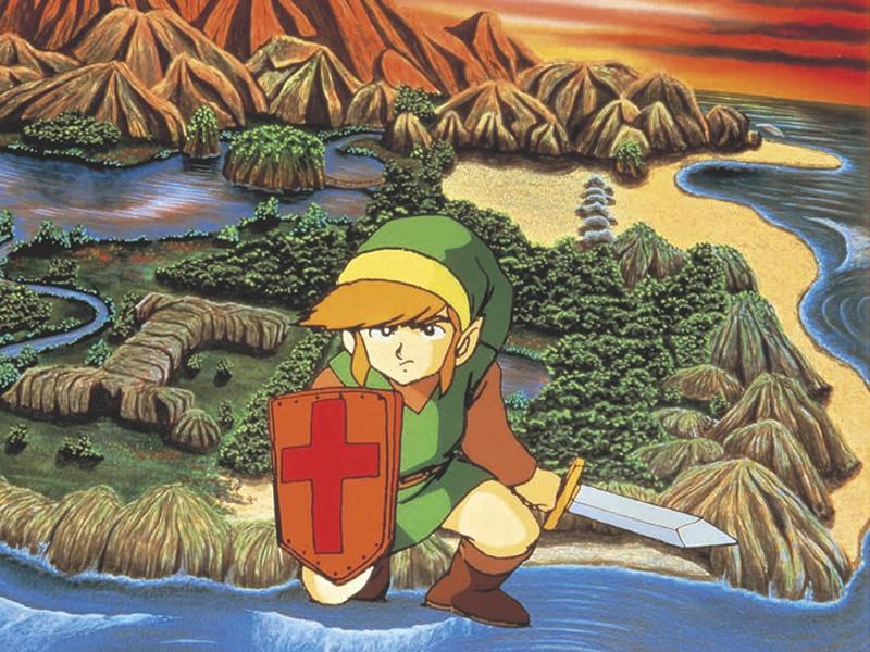 Zelda evolution of the art style - Original NES Zelda drawing
